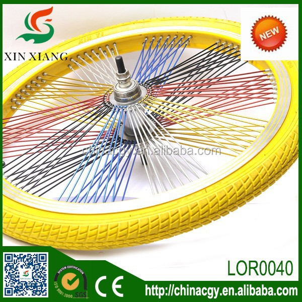durable colorful bike tyres/ solid rubber bicycle tire with beautiful design