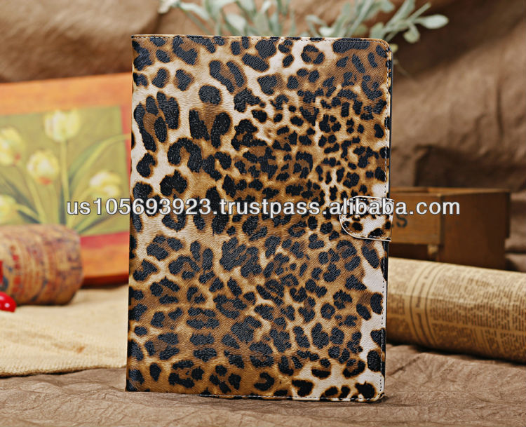 Magnetic Smart Stand Leopard Leather Case For Ipad Air( ipad 5) 2 Color