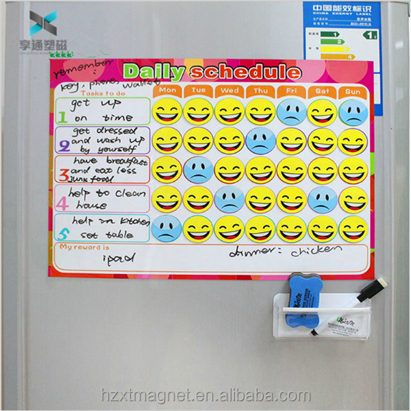 customize 40 X 30 CmCreative To-Do List Kids Schedule Magnetic Reward Chart Dry Erase Magnet Weekly Planner