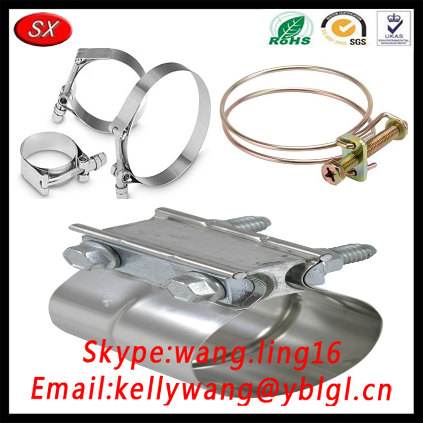 Custom China Stainless Steel/Brass/Aluminum Automotive Spring Hose Clamps