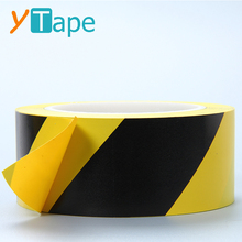 Floor Marking Warning Biohazard Strips Adhesive Black and Yellow Hazard Tape
