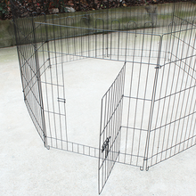 Portable Pet Metal Wire Fence DIY Dog Cage