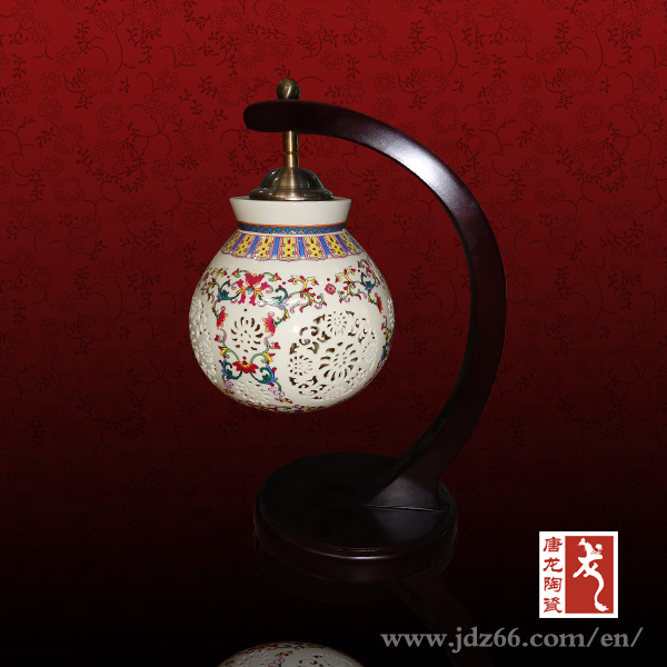 chinese porcelain table lamp Jingdezhen Wonderful Hollowed-out Handmade Ceramic Lamps