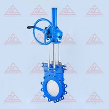 Knife gate valve operated bevel gear