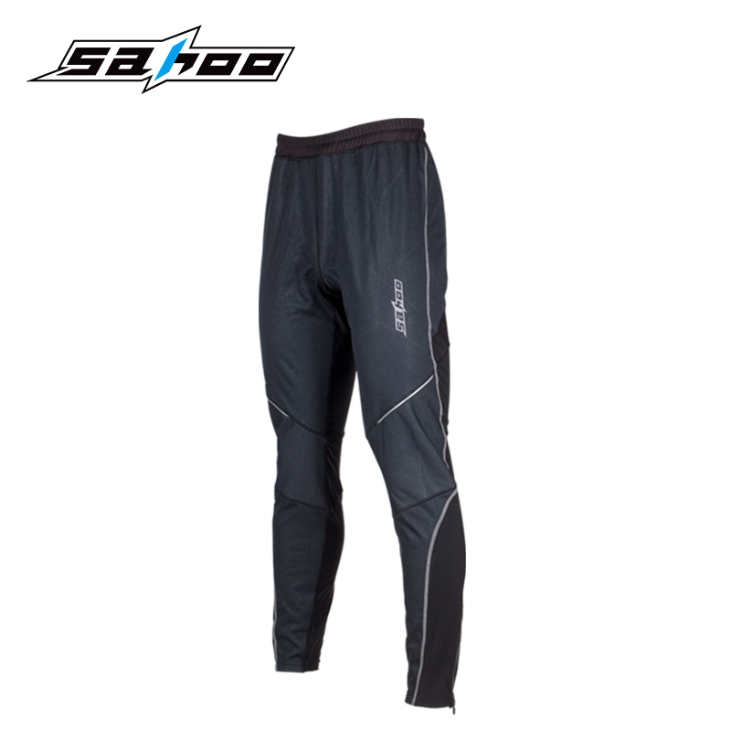 Sahoo 3D Design Breathable and Windproof Black Nylon Men Cycling Pants