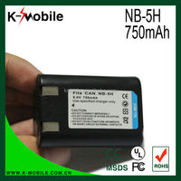 Hote Selling Li-ion Digital Camera NB-5H Battery for Canon PowerShot S10 S20 A5 A50 70 520
