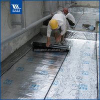 UV Resistant Aluminum Foil Covered Self-adhesive Waterproof Membrane for Metal Roofing