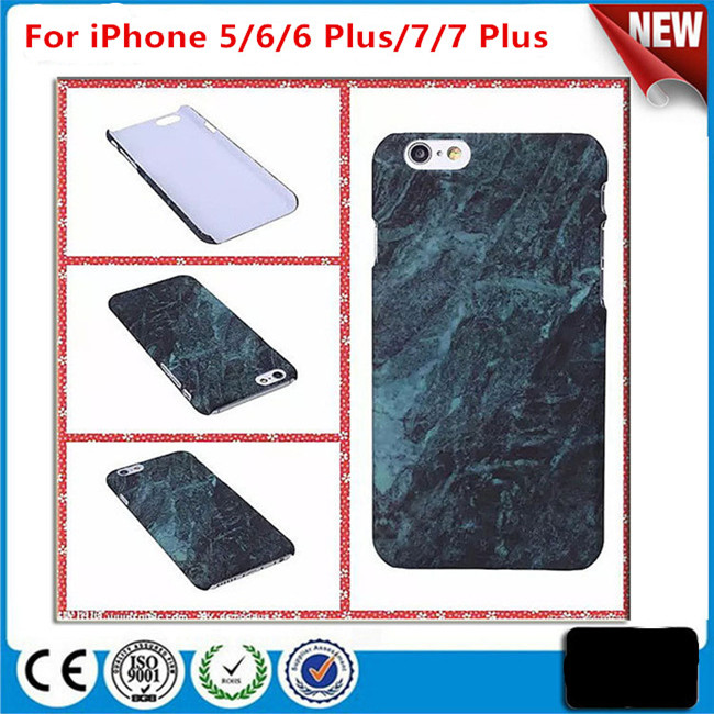 Custom Printed Marble Stone Painted Hard PC Cover Phone Case for iPhone 7/7 Plus