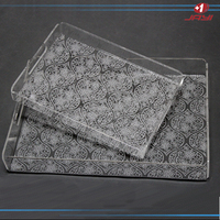 Alibaba China clear acrylic tray,lucite rectangular acrylic trays wholesale