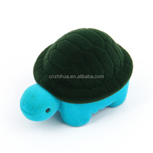 ZHIHUA brand wholesale cute custom Turtle shape velvet material ring jewelry box