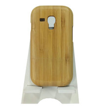 Design Your Own Men Fashion Style Bamboo Wooden Phone Case For Samsung Galaxy 3Mini