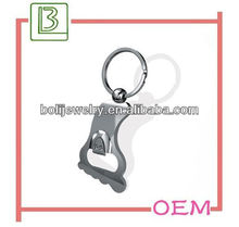 2013 hot sale ,foot shaped cool bottle opener keychain with logo,metal bottle opener
