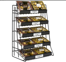 Retail store shopping metal floor display rack chocolate stand