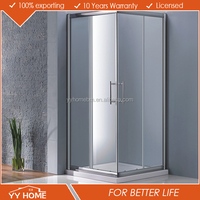 YY Home New pivot corner square shower door/enclosure/screen