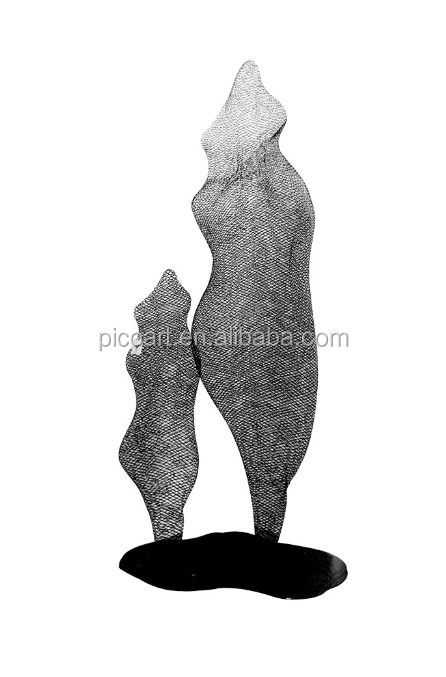 abstract wire mesh arts metal sculpture for home decor
