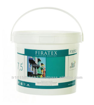 Firatex Acrylic Emulsion Based Elastic long life decorative final coat exterior paint.
