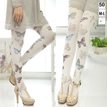 New Sexy Women Pantyhose Cat Tattoo Print Silk Tights/stockings