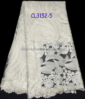 2015 african fabric net lace with sequins/white tulle french lace fabrics