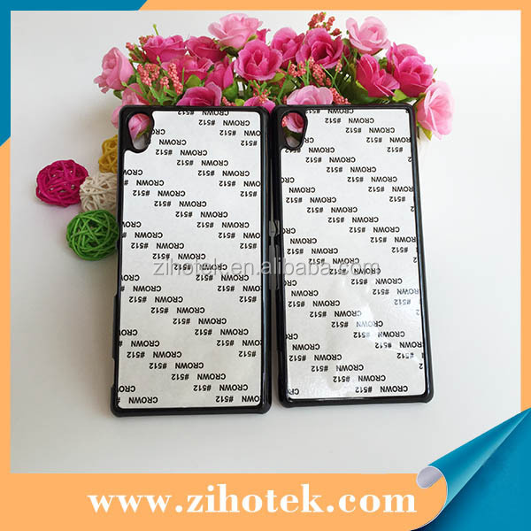 2D PC Blank sublimation case for Sony Z4 with metal insets