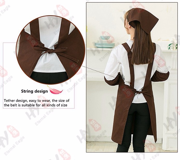 Popular super quality cotton cooking pockets apron