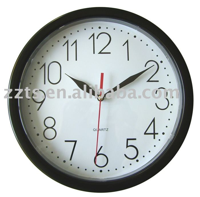 10 inch promotional plastic wall clock