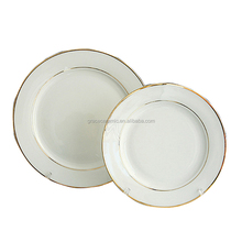 luxury bone china white square wholesale dinner plates fruit plate ceramic gold rimmed dinner plates