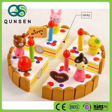 Educational wooden carton cake pretend play children kitchen toys