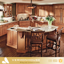 China factory made olive wood veneer waterproof plywood modern modular kitchen cabinets