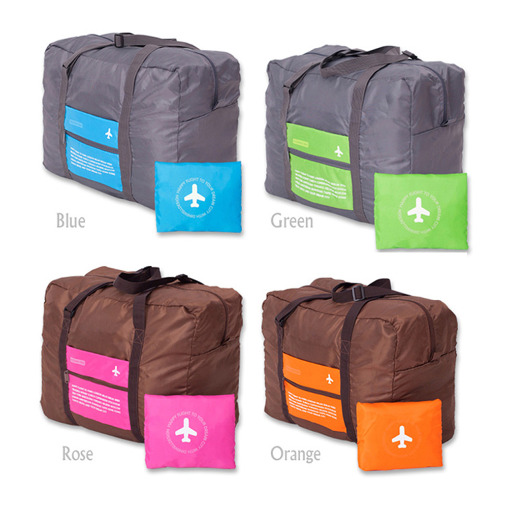 Foldable portable waterproof nylon big duffel travel bags