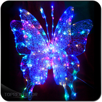Metal decorative butterflies led acrylic sculpture