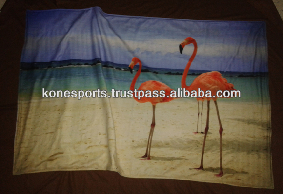 Beach Towels With Custom Full Color Printing Sublimated