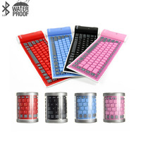 2016 New Universal Silicone wireless bluetooth keyboard waterproof foldable soft keyboard