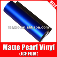 TSAUTOP RoHS certificate Air free Bubbles 1.52*20M Custom Matt Pearl blue metallic paint car