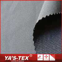 Bulk production durable stretch polyester plain dyed fabric for sportswear