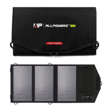 Allpowers 15W Solar Panel Charger with 6000mAh Battery, foldable solar charger,Exclusive Solar Battery Controller, SunPower