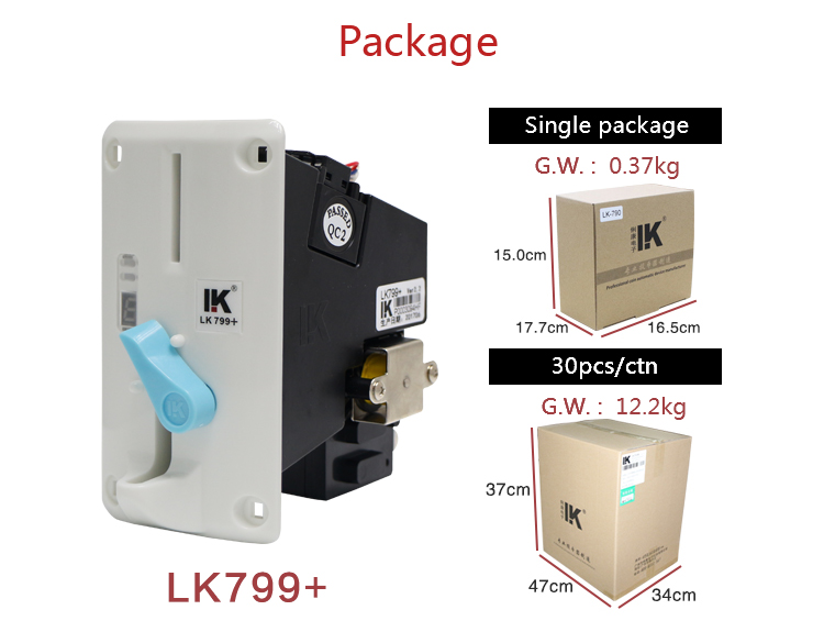 LK799+ coin acceptor coin receiver for coin payment system