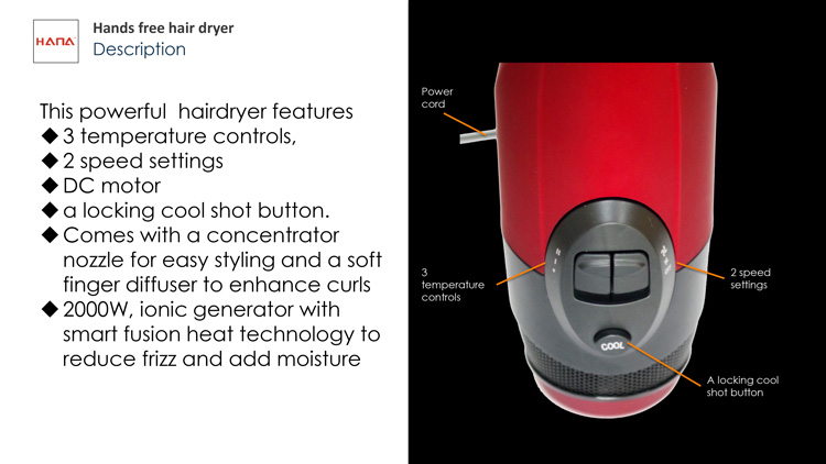 Selling professional Long life multi-certified cool settings can be handheld hands free dc motor for hair dryer