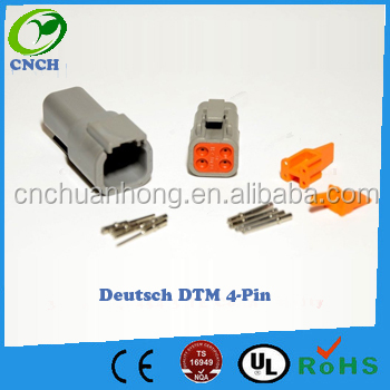 Deutsch DTM 4-Pin Genuine Connector Kit with 20AWG Solid Terminals