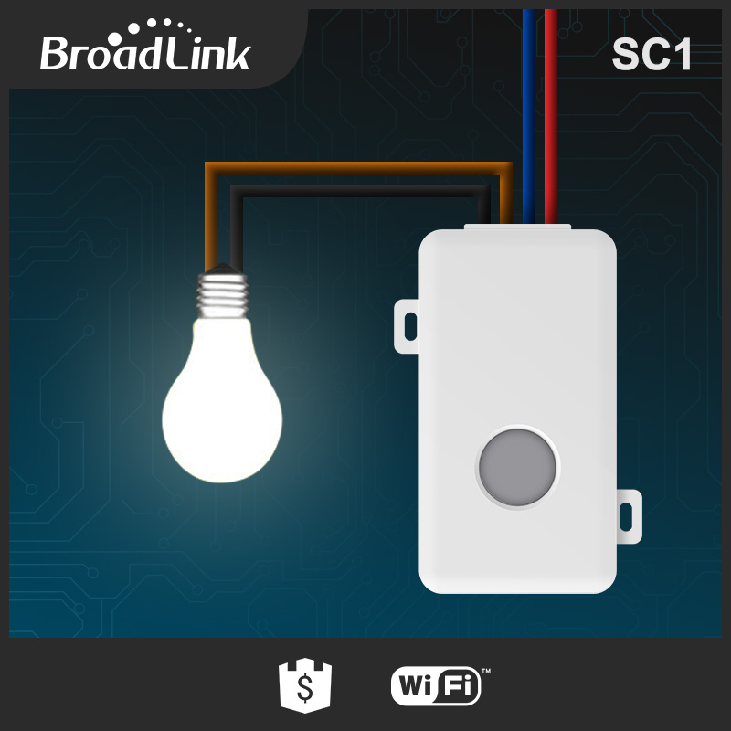 BroadLink SC1 smart home wireless wifi controlled 220v ac power switch remote control light switch