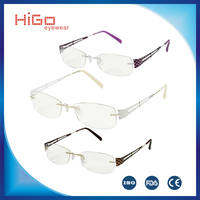 NEW BETA TITANIUM EYEGLASSES FASHION METAL NYLON RIMLESS WOMEN EYEWEAR SPECTACLE OPTICAL FRAME
