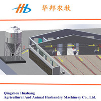 2016 huabang series poultry silo feeding system for chicken farm house with ce certification