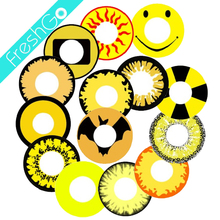 Wholesale Yearly Yellow Funny Soft Cosmetic Coloured Contact Lenses Halloween Cosplay Lenses Crazy Lenses
