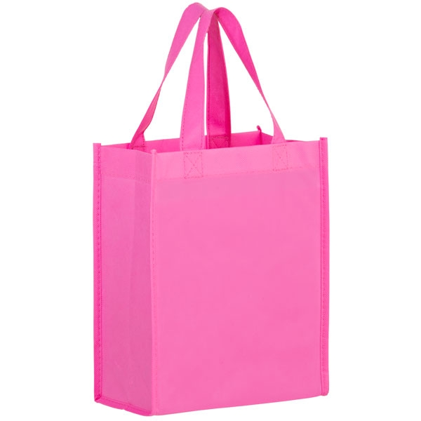 promotional Pink colour shopping eco friendly making produce reusable non woven bags