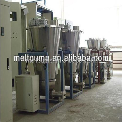 Wood chip feeding automatic screw loss in weight feeder
