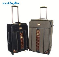 Trolley PU leather luggage case wheeled backpack luggage