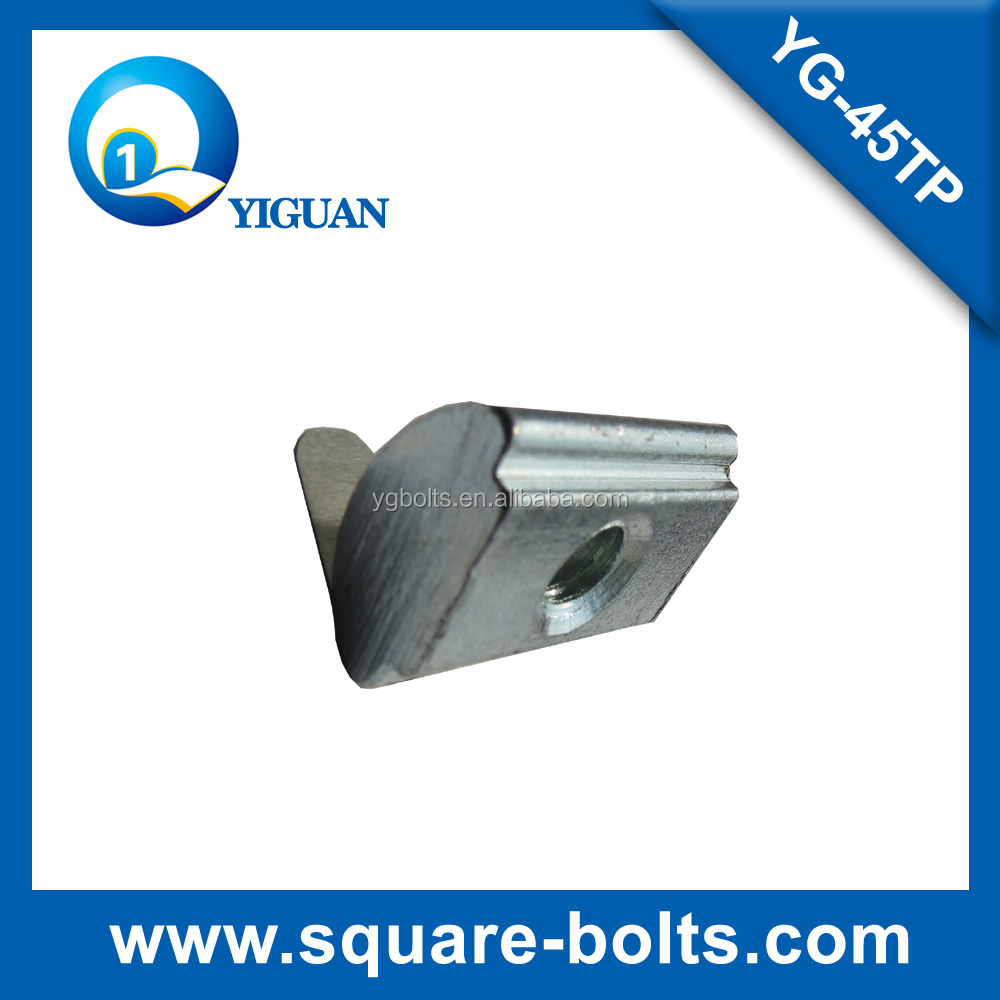 spring slot nut for 45 series of industrial profile