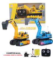 Hot sale 4 Channel RC Tracked Engineering Vehicles With Flash Light
