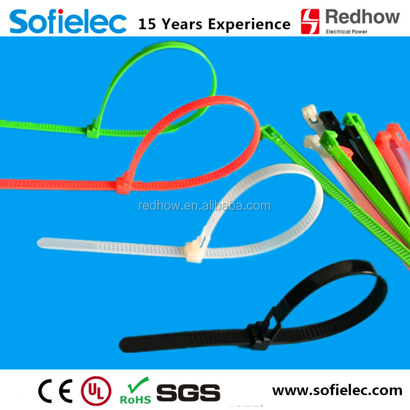 Nylon 66 Material and Releasable Type custom logo velcro cable tie