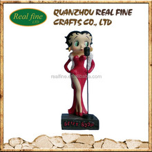 Custom Design resin statue betty boop figure