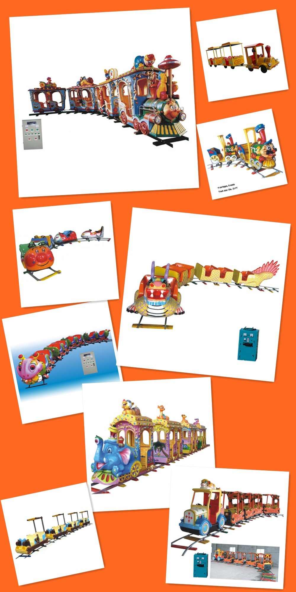 2016 New Trackless Amusement Electric Train,amusement electric train,amusement train,with low cost in good quality